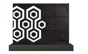 mur d'eau ceramique hexa
